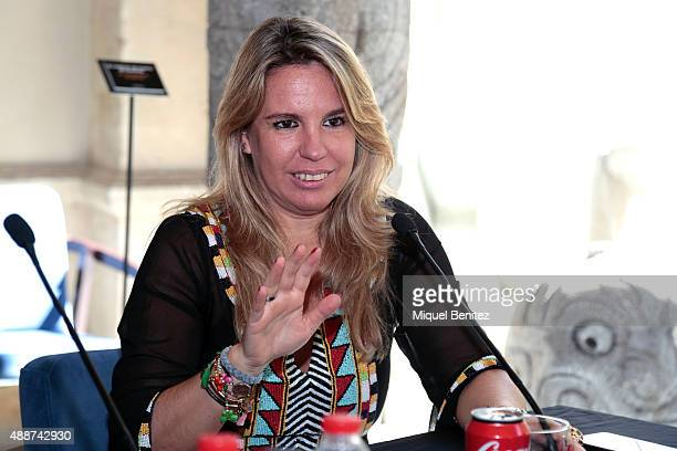 Carmen Porter attends the Cuarto Milenio The Exhibiton at Coliseum theater in Barcelona on September 17 2015 in Barcelona Spain