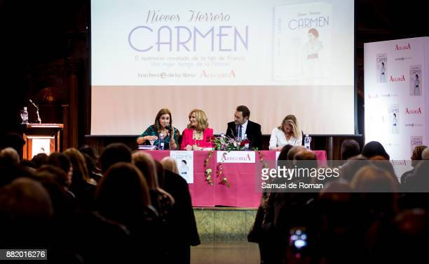 Carmen Posadas Albert Castillon and Nieves Herrero attend 'Carmen' Presentation in Madrid on November 29 2017 in Madrid Spain