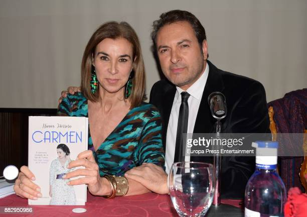 Carmen Posadas and Albert Castillon attend the presentation of the book 'Carmen' by Nieves Herrero the biography of the dictator Francisco Franco's...
