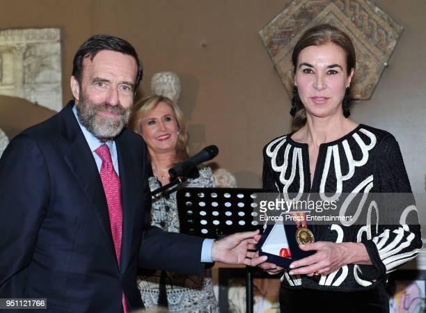 Carmen Posadas attend the 2017 Mayte Spinola Golden Medals Award on February 27 2018 in Madrid Spain