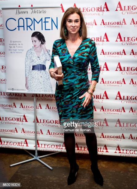 Carmen Posadas attends 'Carmen' Presentation in Madrid on November 29 2017 in Madrid Spain