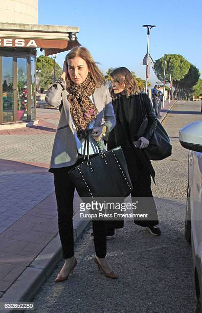 Carmen Posadas attends the funeral chapel for Bimba Bose on January 24 2017 in Madrid Spain Bimba Bose Died in Madrid at the age of 41 years old of...
