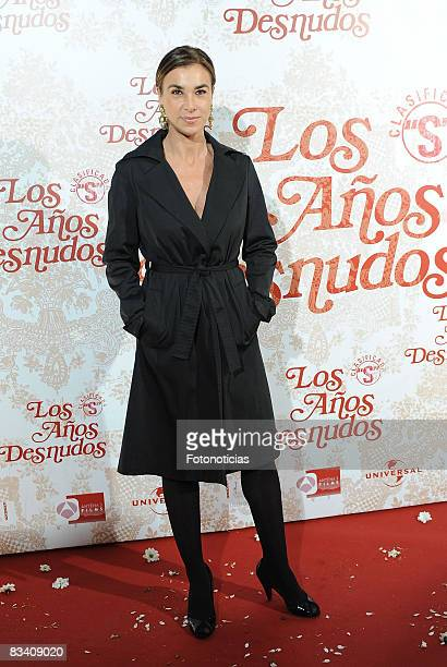 Carmen Posadas attends the 'Los Aos Desnudos' premiere at the Capitol Cinema on October 23 2008 in Madrid Spain