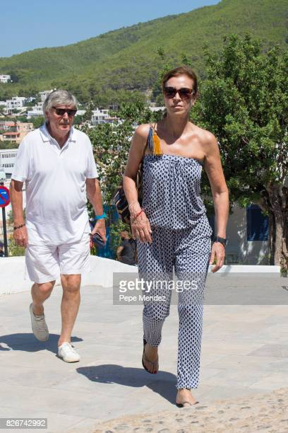 Carmen Posadas attends the Mass Funeral for Angel Nieto at Parroquia de Santa Eularia on August 5 2017 in Ibiza Spain