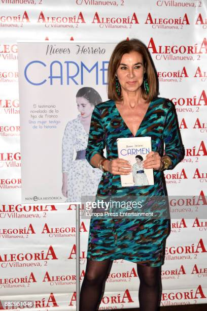 Carmen Posadas attends the presentation of the book 'Carmen' by Nieves Herrero the biography of the dictator Francisco Franco's daughter Carmen...