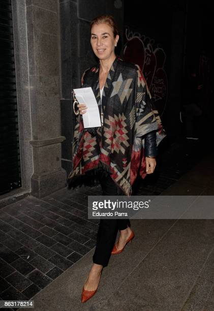 Carmen Posadas attends the 'Tricicle Hits' premiere at La Luz theatre on October 19 2017 in Madrid Spain