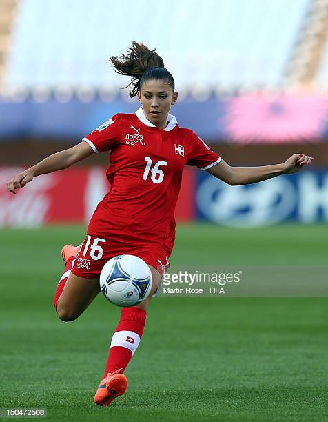 Carmen Pulver of Switzerland runs with the ball during the FIFA U20 Women's World Cup 2012 group A match between New Zealand and Switzerland at...