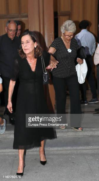 Carmen Quesada and Maria Isabel Sensat Marques attend Arturo Fernandez's funeral mass on July 17 2019 in Madrid Spain