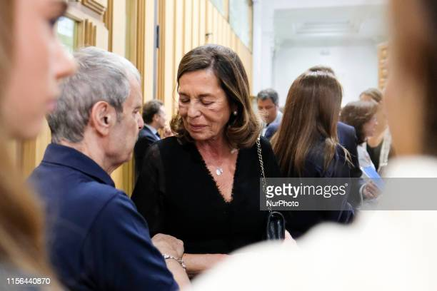 Carmen Quesada attend the Mass in memory of actor Arturo Fernandez at the Basilica of Jesus de Medinaceli on July 17 2019 in Madrid Spain