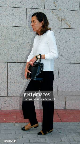 Carmen Quesada attends Arturo Fernandez Funeral Chapel on July 04 2019 in Madrid Spain