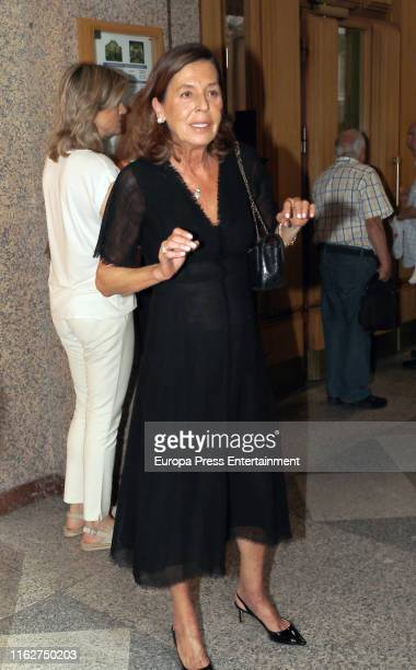 Carmen Quesada attends Arturo Fernandez's funeral mass on July 17 2019 in Madrid Spain