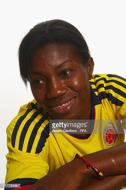 Carmen Rodallega of Colombia during the FIFA portrait session on June 25 2011 in Cologne Germany