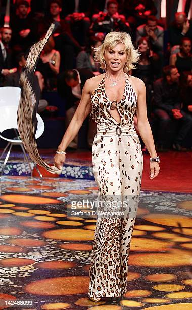 Carmen Russo attends L'Isola dei Famosi Final 2012 on April 5 2012 in Milan Italy