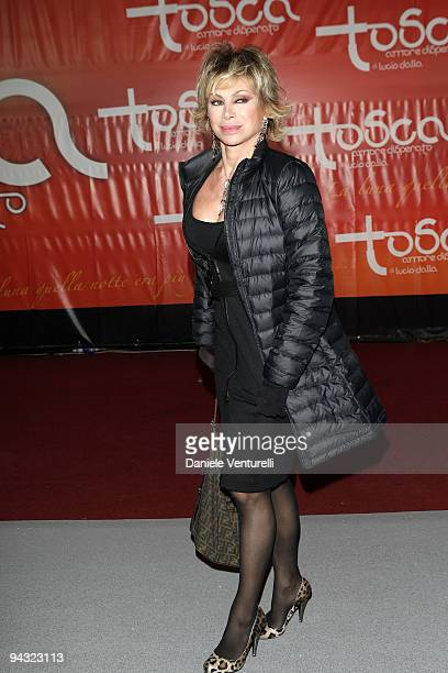 WEEKS Carmen Russo attends the 'Tosca amore disperato' at the Gran Teatro Theatre on December 11 2009 in Rome Italy