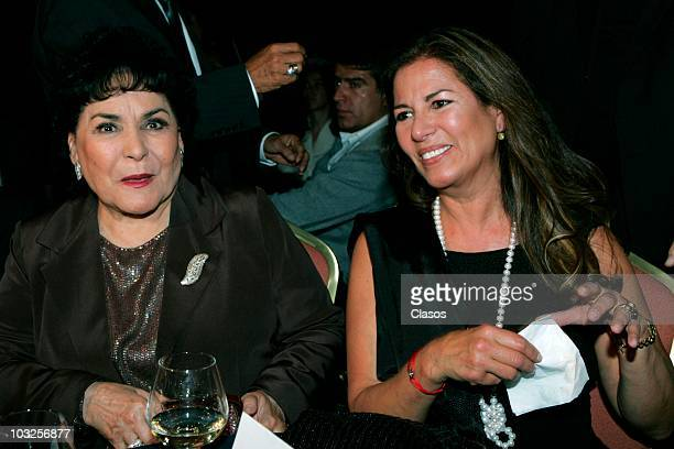 Carmen Salinas and Patricia Rivera in the press conference and show case of Rodrigo Fernandez to submit his recorded material Heridas de Amor on...