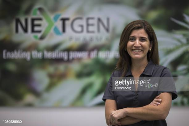 Carmen Serrano chief executive officer of Next Gen Pharma stands for a photograph at the company's lab in Toa Baja Puerto Rico on Thursday July 19...