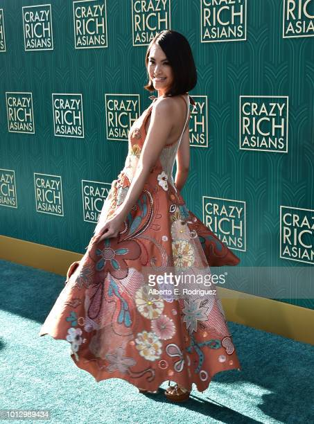 """Carmen Soo attends the premiere of Warner Bros. Pictures' """"Crazy Rich Asiaans"""" at TCL Chinese Theatre IMAX on August 7, 2018 in Hollywood, California."""