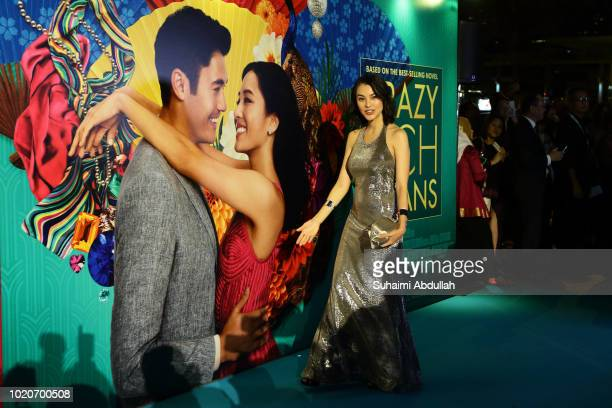 Carmen Soo attends the Singapore premiere of 'Crazy Rich Asians' on August 21 2018 in Singapore