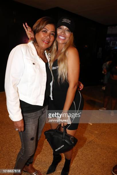 Carmen Surillo and La La Anthony attend Jeremih In Concert at PlayStation Theater on August 13 2018 in New York City