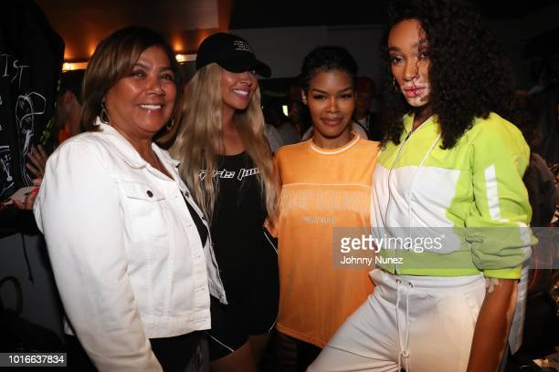 Carmen Surillo La La Anthony Teyana Taylor and Winnie Harlow backstage at PlayStation Theater on August 13 2018 in New York City