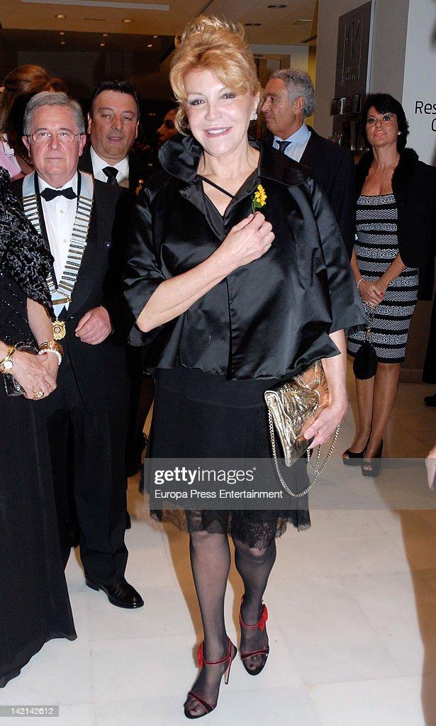 Carmen Thyssen Bornemisza attends Huella Awards to Club Rotary at Vinci Hotel on March 29, 2012 in Malaga, Spain.
