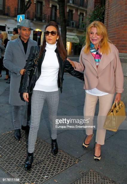 Carmen ThyssenBornemisza and Veronica Fernandez Prieto are seen on January 22 2018 in Madrid Spain