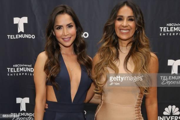 Carmen Villalobos and Catherine Siachoque Varoni attend Telemundo's Al Rojo Vivo 15th Anniversary Celebration at Hammerstein Ballroom on May 15 2017...