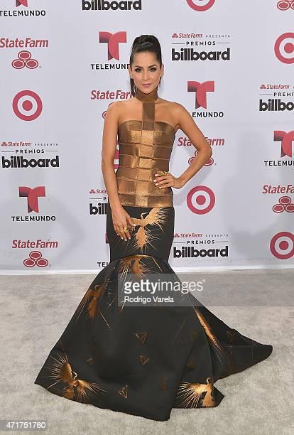 Carmen Villalobos arrives at 2015 Billboard Latin Music Awards presented bu State Farm on Telemundo at Bank United Center on April 30, 2015 in Miami,...