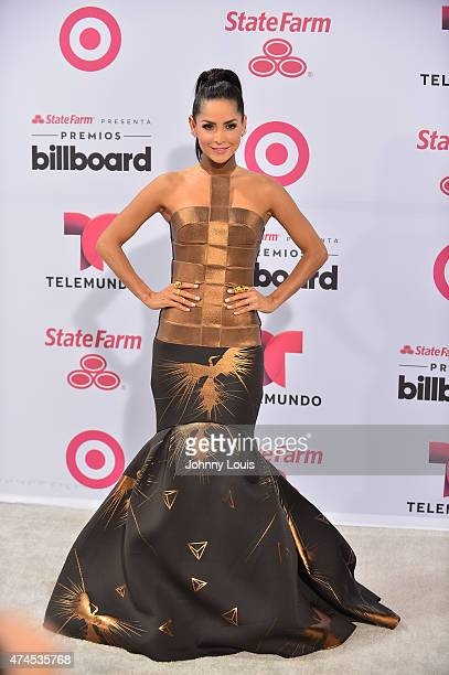 Carmen Villalobos arrives at 2015 Billboard Latin Music Awards presented by State Farm on Telemundo at Bank United Center on April 30, 2015 in Miami,...