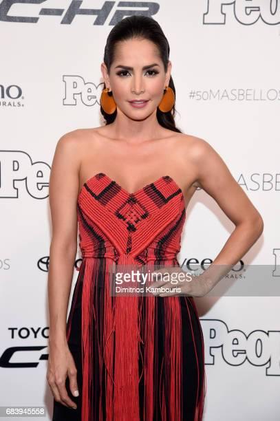 Carmen Villalobos arrives at People en Espanol's 50 Most Beautiful Gala 2017 at Espace on May 16, 2017 in New York City.