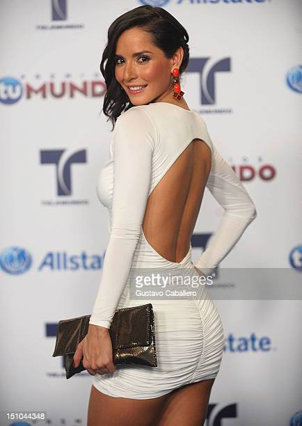 Carmen Villalobos arrives at Telemundo's Premios Tu Mundo Awards at Fillmore Miami Beach on August 30 2012 in Miami Beach Florida