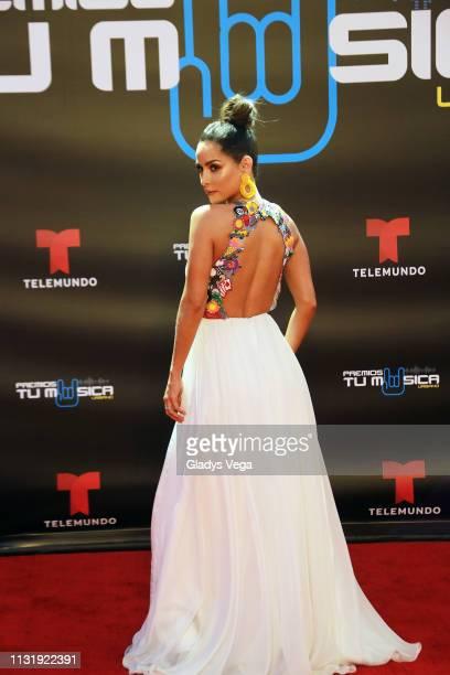 Carmen Villalobos arrives to Premio Tu Musica Urbano at Coliseo Jose M. Agrelot on March 21, 2019 in San Juan, Puerto Rico.