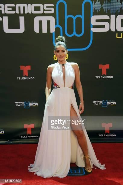 Carmen Villalobos arrives to Premio Tu Musica Urbano at Coliseo Jose M Agrelot on March 21 2019 in San Juan Puerto Rico