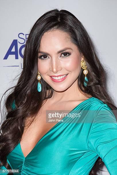 Carmen Villalobos attends premiere of new Telemundo productions Silvana Sin Lana Sin Senos Si Hay Paraiso and Senora Acero 3 La Coyote at Conrad...