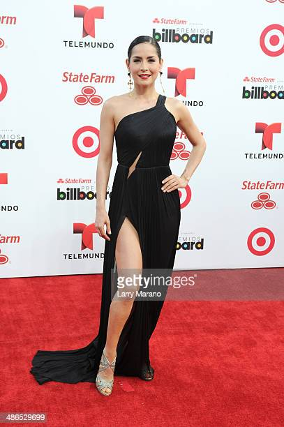 Carmen Villalobos attends the 2014 Billboard Latin Music Awards at Bank United Center on April 24 2014 in Miami Florida