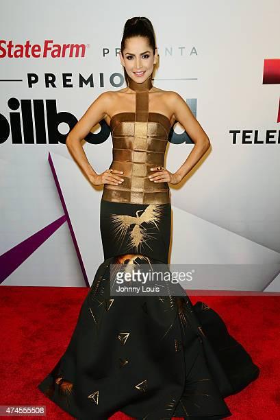 Carmen Villalobos backstage at 2015 Billboard Latin Music Awards presented by State Farm on Telemundo at Bank United Center on April 30, 2015 in...