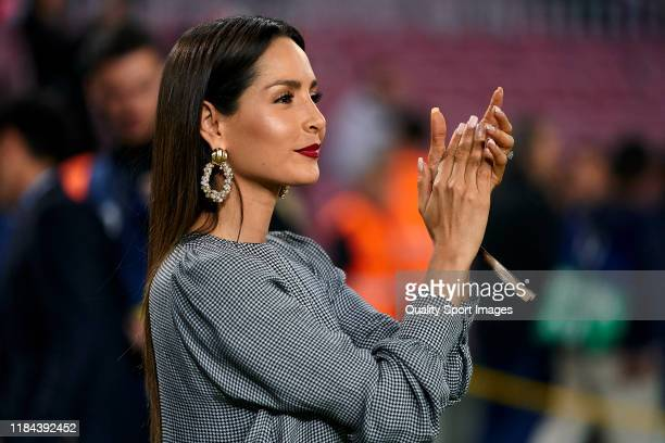 Carmen Villalobos from Colombia prior to the Liga match between FC Barcelona and Real Valladolid CF at Camp Nou on October 29, 2019 in Barcelona,...