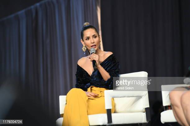 Carmen Villalobos speaks on a panel during People en Español 6th Annual Festival To Celebrate Hispanic Heritage Month - Day 1 on October 05, 2019 in...