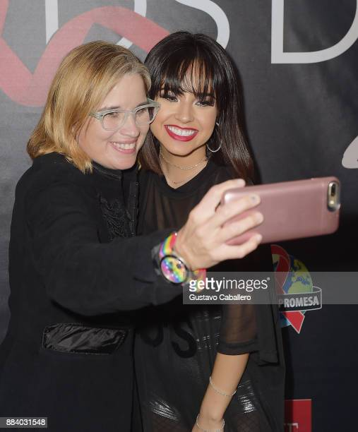 Carmen Yulin Cruz and Becky G attend the AHF World AIDS Day Concert on December 1 2017 in Miami Florida