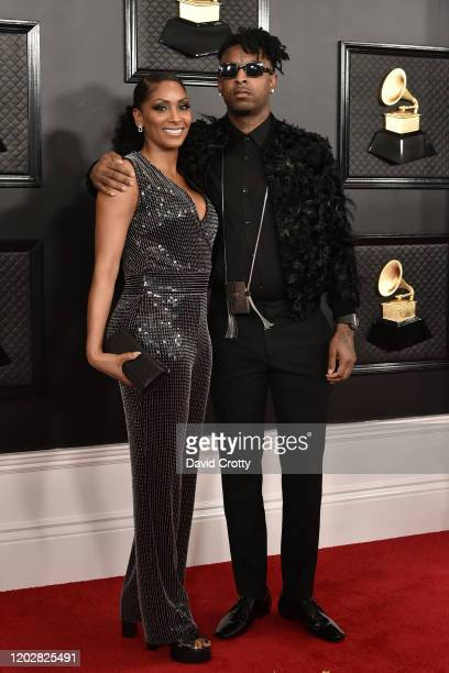 Carmillia Joseph and 21 Savage attend the 62nd Annual Grammy Awards at Staples Center on January 26, 2020 in Los Angeles, CA.