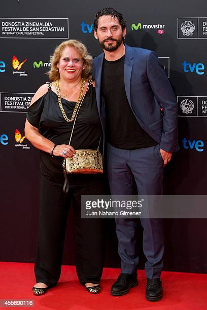 Carmina Barrios and Paco Leon attend 'Automata' premiere during 62nd San Sebastian International Film Festival at the Kursaal Palace on September 21,...