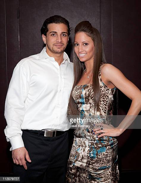 Carmine Agnello Jr and Girlfriend attend the celebration of Frank Gotti's 21st birthday with the cast of Gotti Three Generations at the Sheraton New...