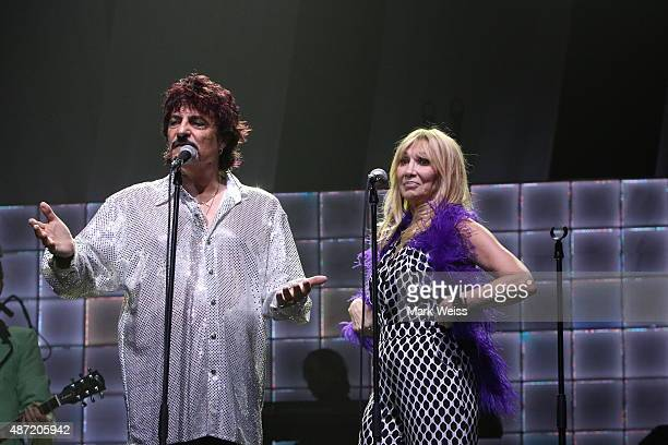 Carmine Appice and Maureen Van Zandt perform in the rock opera Tommy at Count Basie Theater on August 29 2015 in Red Bank New Jersey