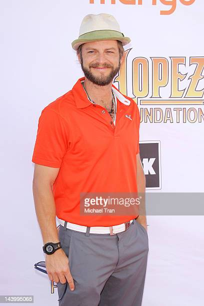 Carmine Giovinazzo arrives at the 5th Annual George Lopez Celebrity Golf Classic to benefit The Lopez Foundation held at Lakeside Golf Club on May 7...