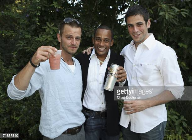 Carmine Giovinazzo Hill Harper and Eddie Cahill attend the 'Adopt A School' Initiative launch party on August 12 2006 in Los Angeles California