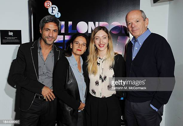 "Carmine Maringola, Emma Dante, Marta Donzelli and Carlo Brancaleoni attend a screening of ""A Street In Palermo"" during the 57th BFI London Film..."