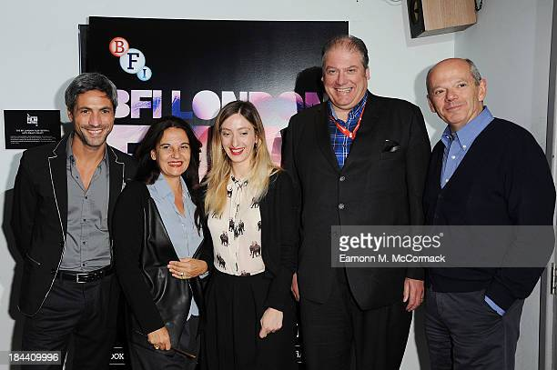 "Carmine Maringola, Emma Dante, Marta Donzelli, CEO of Film London Adrian Wootton and Carlo Brancaleoni attend a screening of ""A Street In Palermo""..."