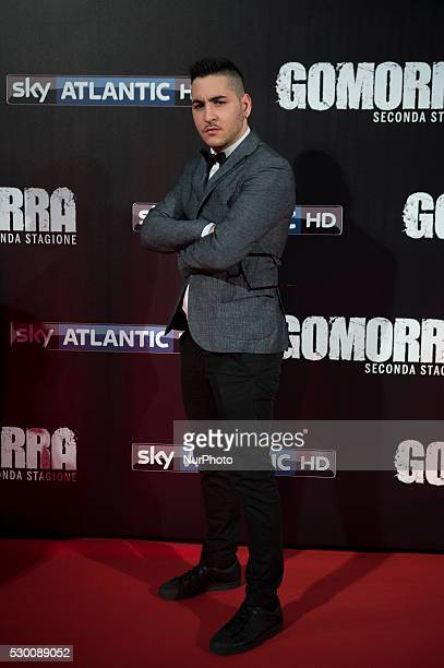 Carmine Monaco attends the 'Gomorra 2 - La serie' on red carpets at The Teatro dell'Opera in Rome, Italy on May 10, 2016.