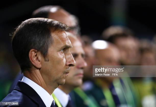 Carmine Nunziata, Coach of Italy during the FIFA U-17 World Cup Quarter Final match between Italy and Brazil at the Estádio Olímpico Goiania on...