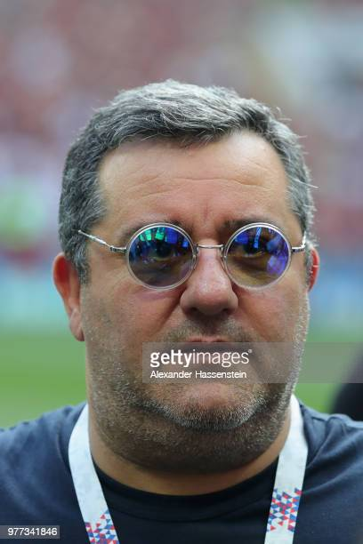 Carmine Raiola looks on prior to the 2018 FIFA World Cup Russia group F match between Germany and Mexico at Luzhniki Stadium on June 17 2018 in...